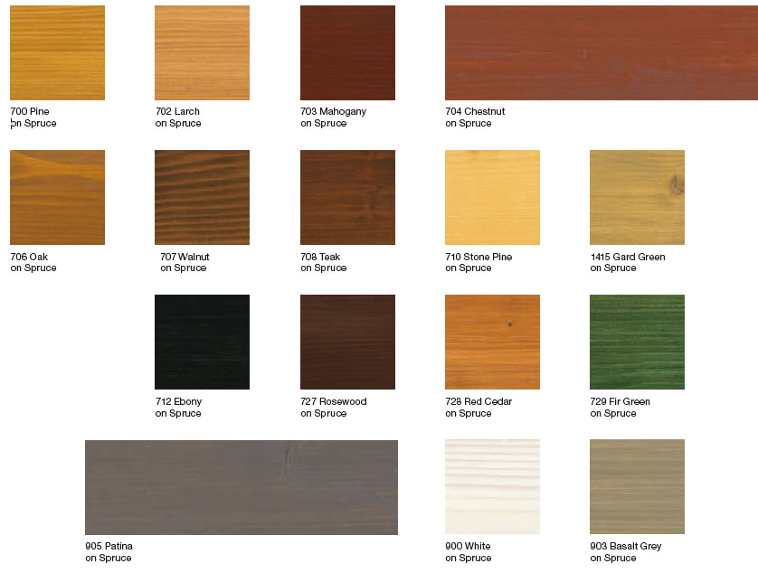 Natural Colors of Wood Osmo Wood Stain And Protector