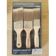 Paint Brush (Synthetic) Set  [Free Angled Brush!] : 14.000000