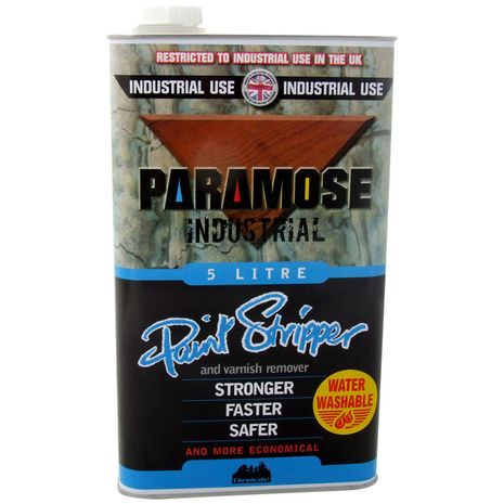 Paramose W/W Paint & Varnish Remover, 5L (Thick) : 27.470000