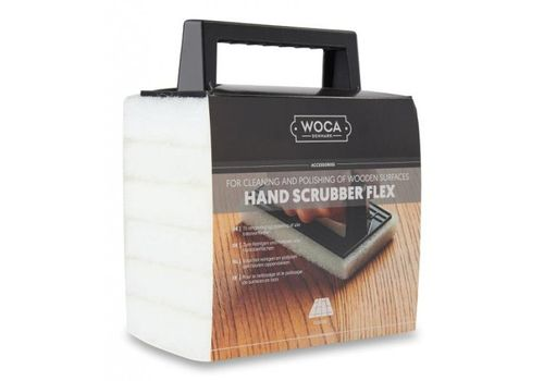 WOCA Hand Scrubber/Polishing Kit with 6 White Pads